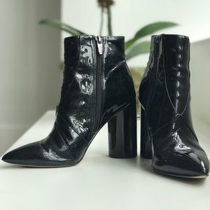 Sigerson Morrison Patent Leather Booties